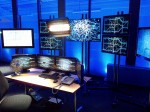 Film set mock CCTV control room