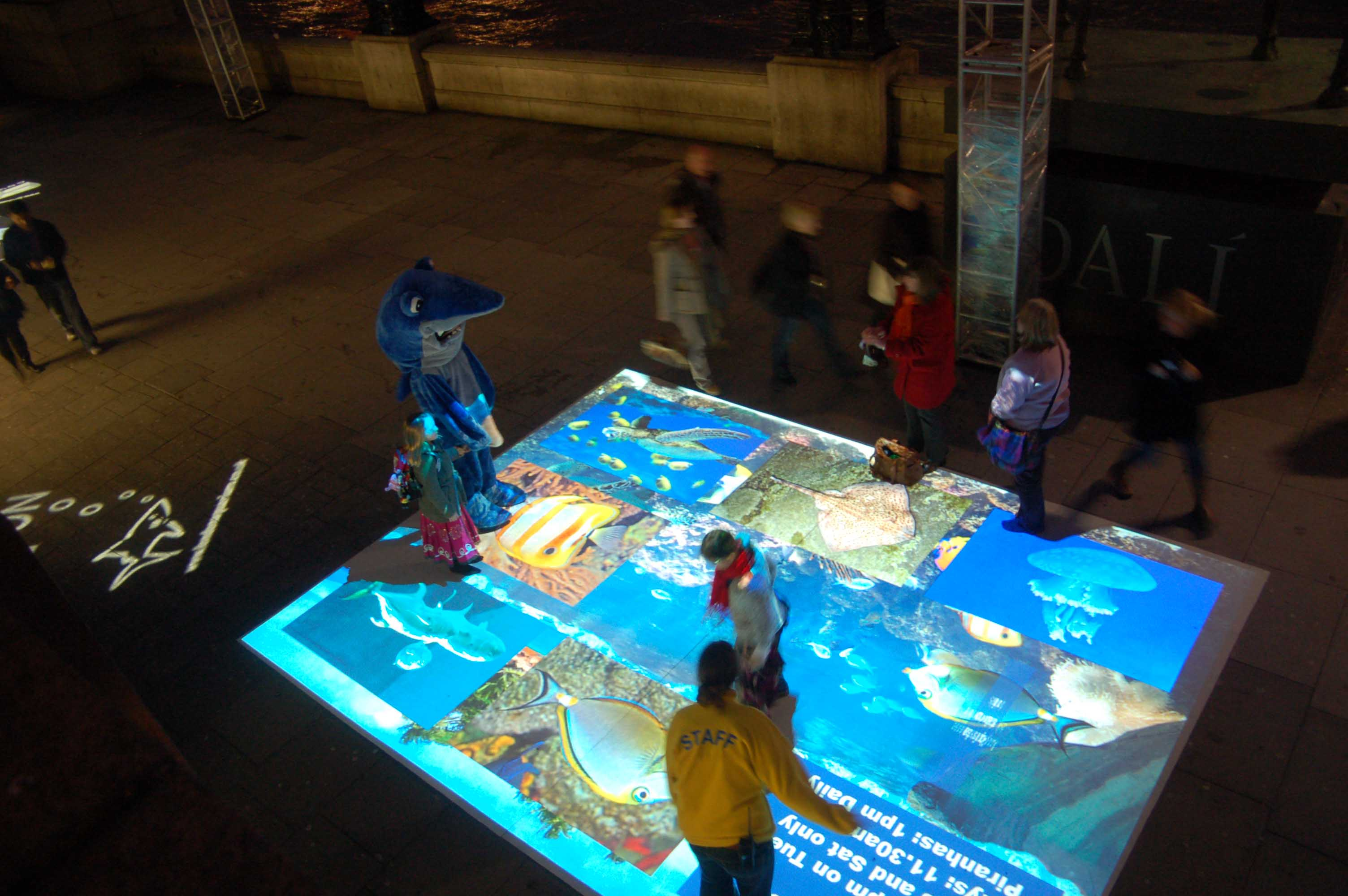 Interactive Aquarium Floor Image