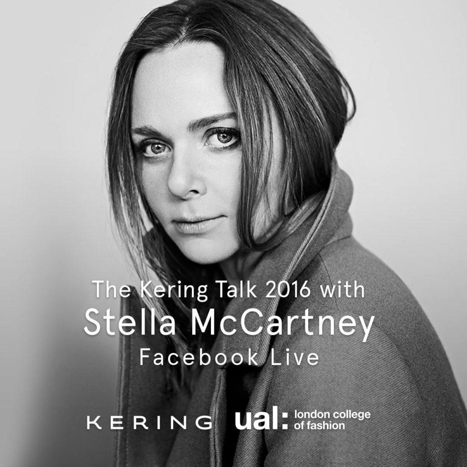 GEMS NFX KERING Talk Facebook LIVE Stella McCartney 2016 London Fashion College Brainsonic