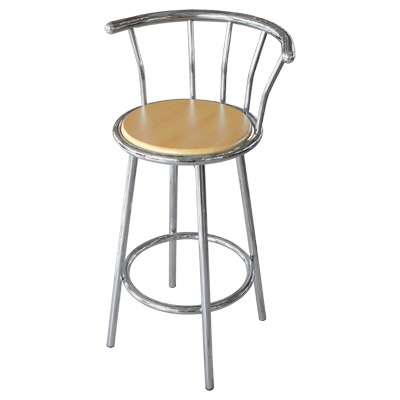 Chrome Bar Stool Beech